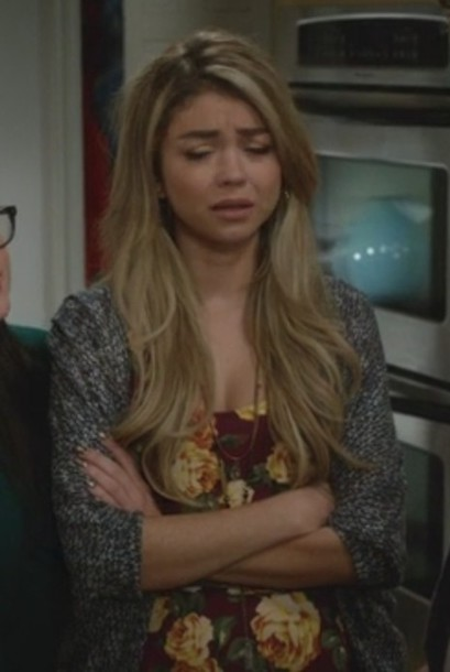 dress floral skater haley dunphy sarah hyland modern family cardigan
