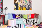 home accessory,sofa,home decor,home furniture,sofa throw,pillow,rug,colorful,pop art