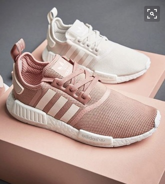 shoes cream pink adidas shoes