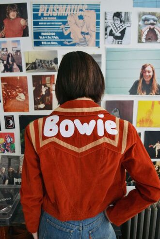 jacket boho jacket brown jacket orange jacket 80s style david bowie