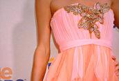 dress,prom dress,pink,chiffon,peace now