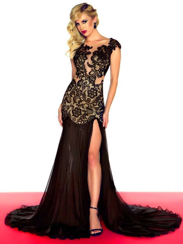 dress black prom dress