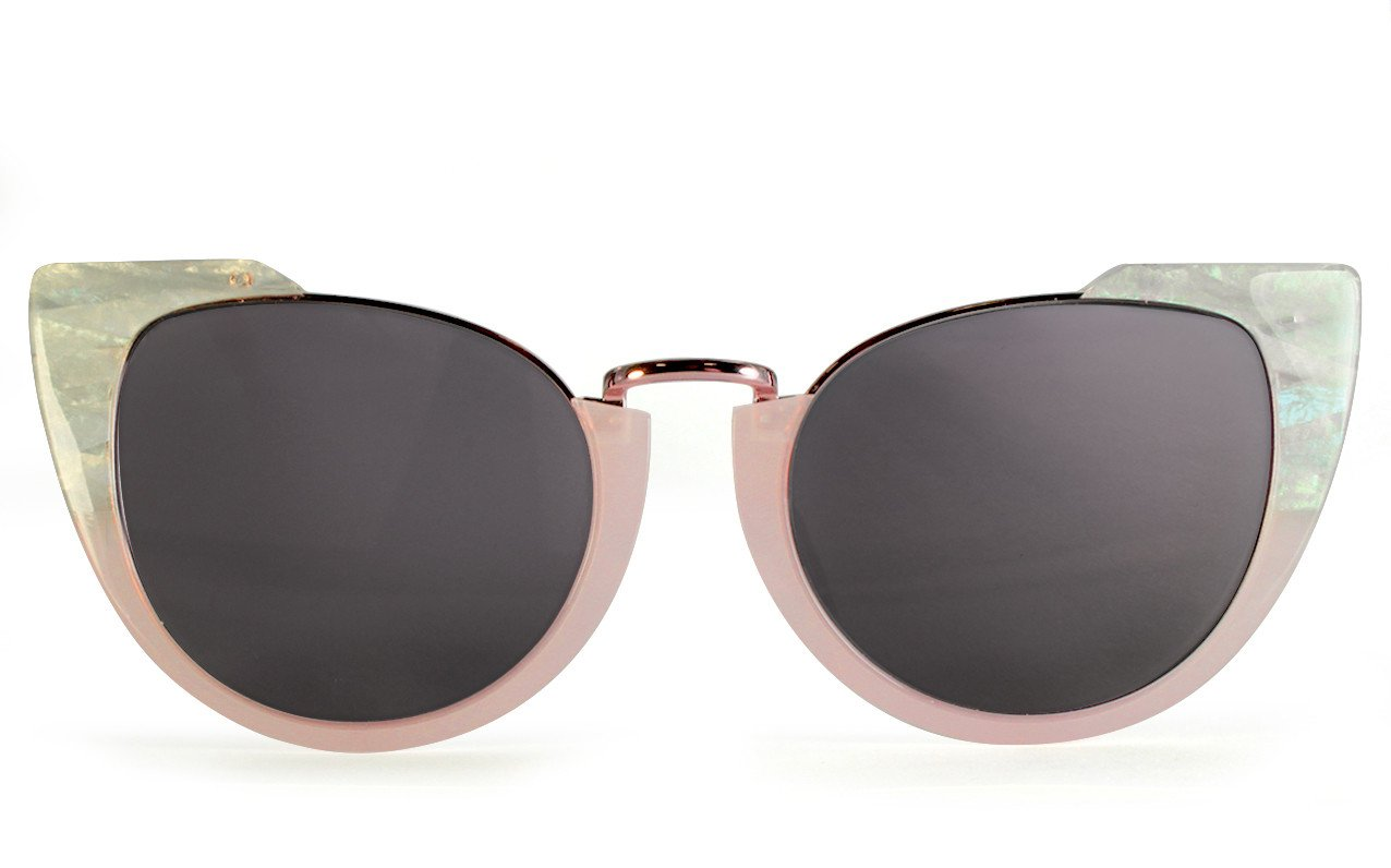 Eve White Tort & Milky Pink Cateye Womens Sunglasses UK | VOW LONDON | VOW London