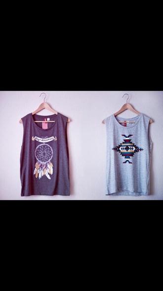 t-shirt aztec dreamcatcher muscle tank dreamcatcher aztec