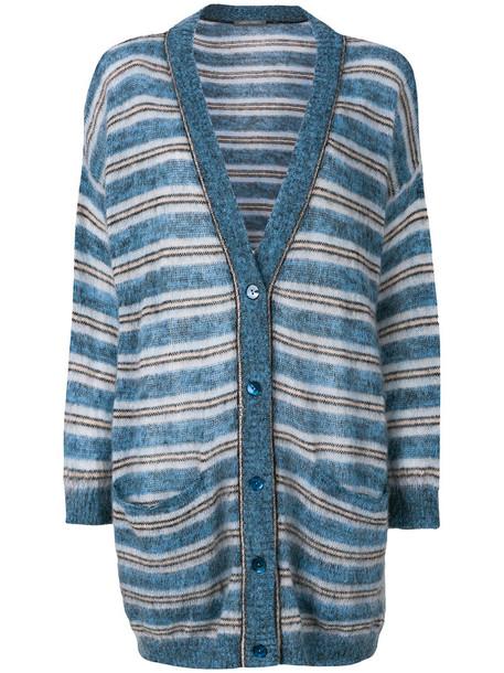 Alberta Ferretti cardigan cardigan women mohair blue wool sweater
