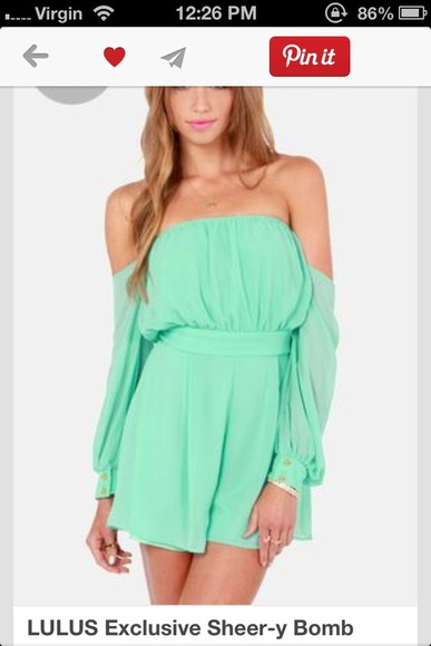 dress mint green