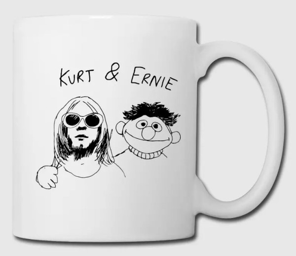 home accessory usa america england france germany italy canada australia band mug kurt cobain bert and ernie ernie drink coffee