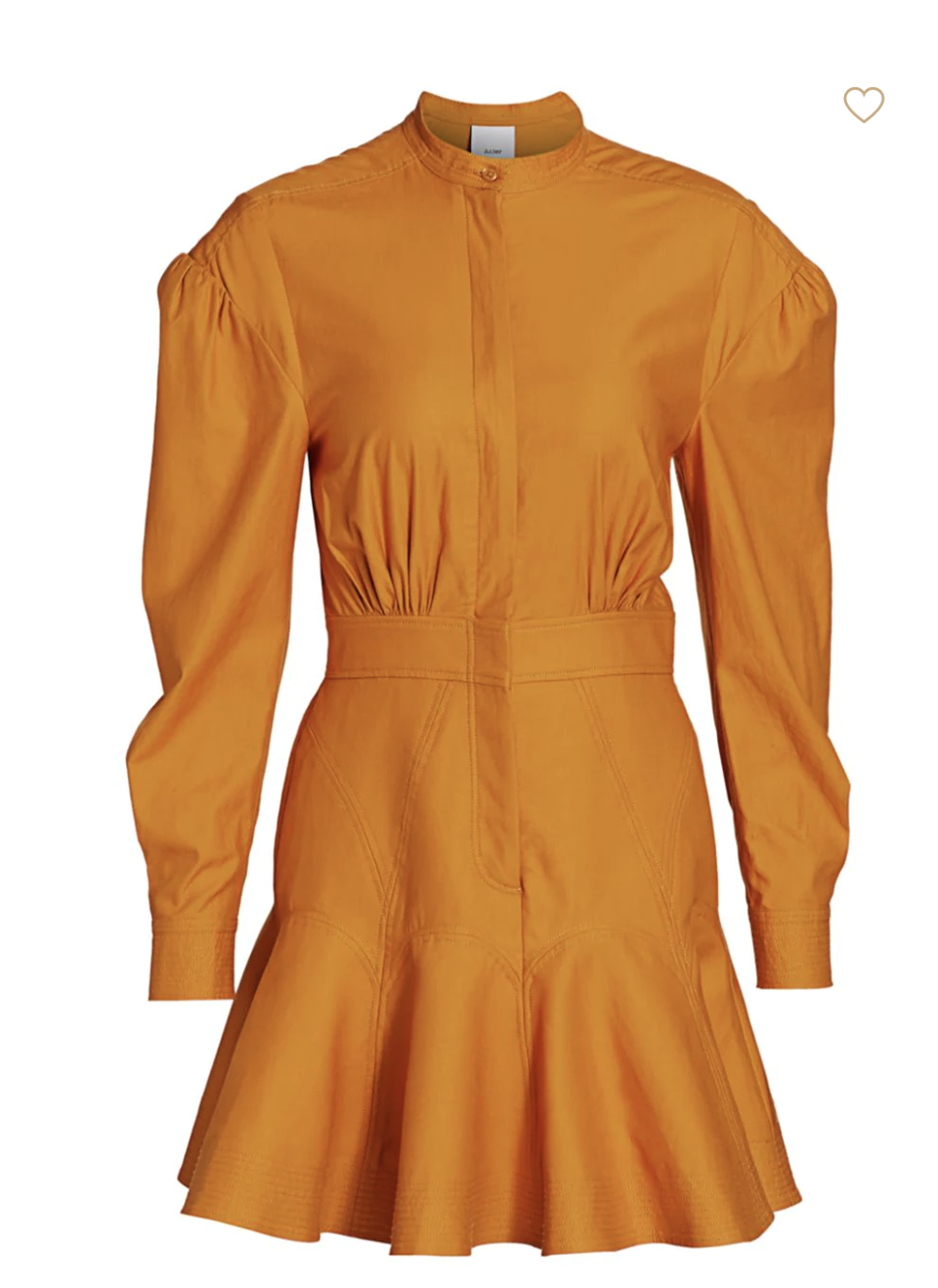 Acler Lewis Puff-Sleeve A-Line Shirtdress