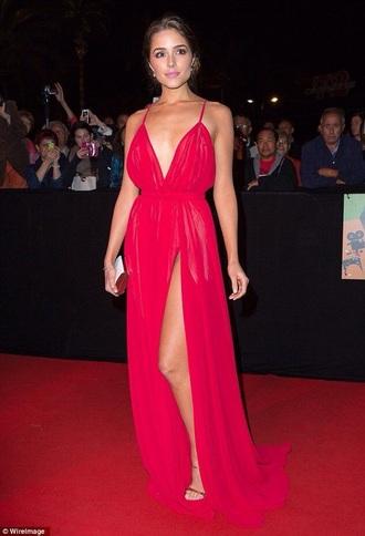 dress red dress gown evening dress prom dress prom gown olivia culpo red carpet dress