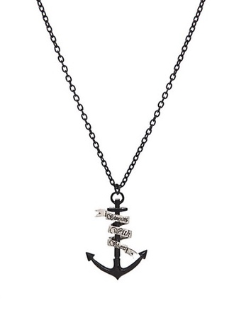 jewels sleeping with sirens necklace anchor music pierce the veil jewelry band band merch