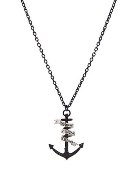 jewels anchor sleeping with sirens necklace music pierce the veil jewlery bands band band merch