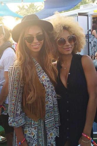 dress vest boho dress beyonce sunglasses coachella jacket