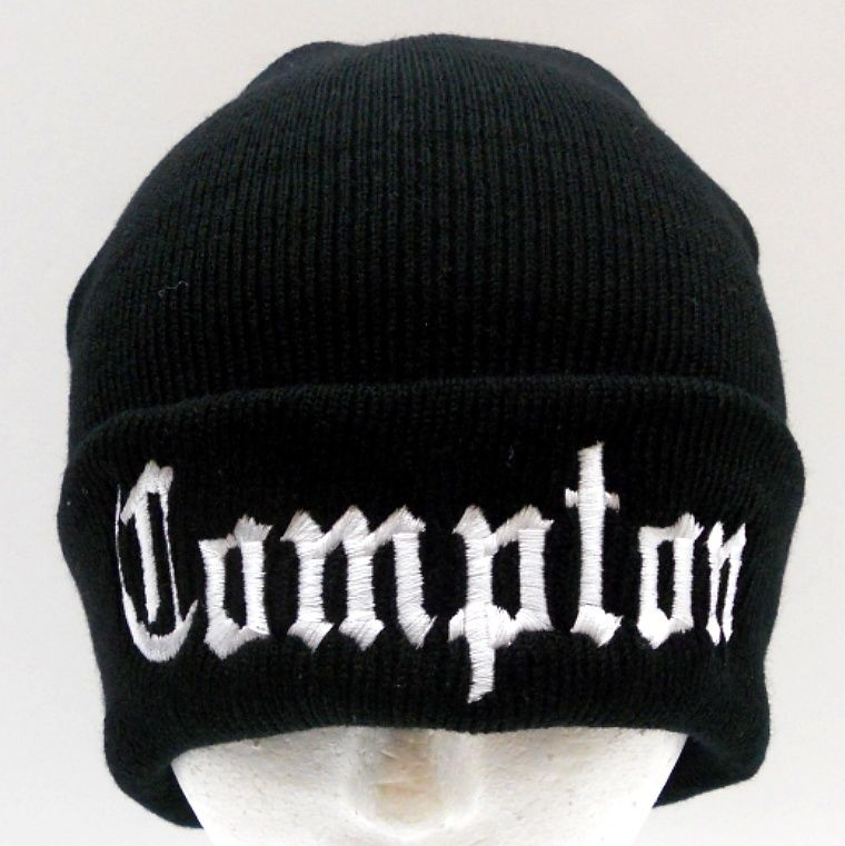 New Black Compton Beanie Ski Cap Hat Long Cuffed | eBay