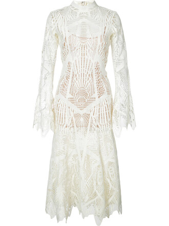 dress lace dress women spandex lace white