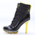 Michael Jordan XI 11 High Heels Boots Air Max in Black & Yellow Color for Women