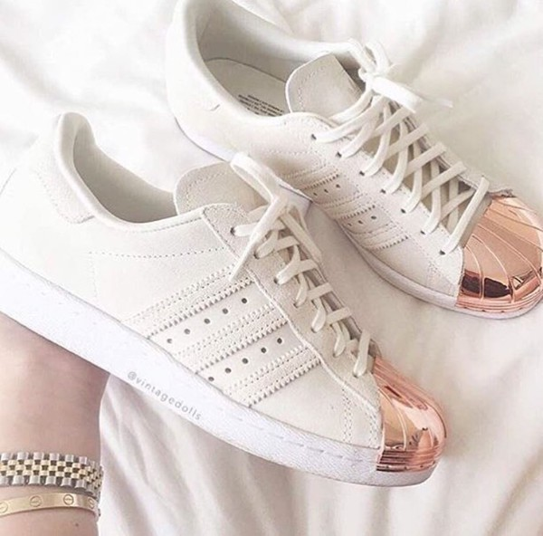 adidas superstar metal toe beige rose gold suede Off 52 ...