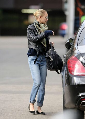 shoes flats ballet flats nicole richie jeans jacket streetstyle fall outfits