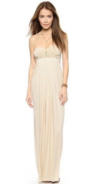 dress long cream