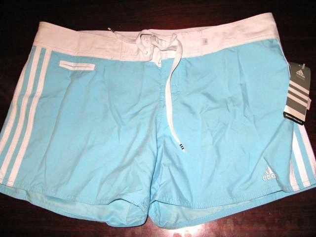 594e766e87 New Adidas light blue Womens Watersports Swim Board Shorts 9 11
