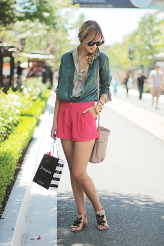 pop culture afternoon pink shorts shorts shoes