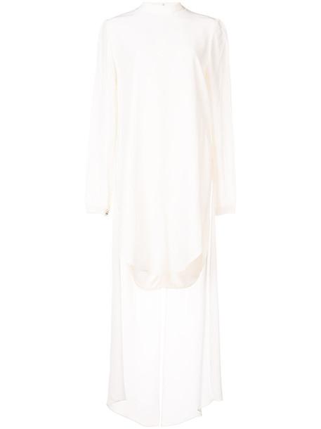 Thomas Wylde dress high women high low white silk