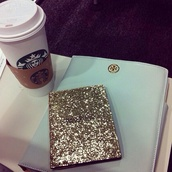 jewels,phone cover,bag,passport cover,notebook,starbucks coffee,coffee,sequins,silver