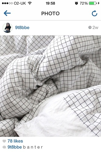 bedding checkered black and white hipster wishlist
