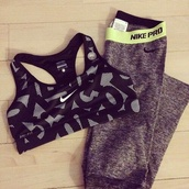 pants,nike,sportswear,leggings,sports bra,grey,black,green,shirt,nike pro,nike leggings,sports pants,girl,nike pro leggings,nike sports bra,nike sports wear,tank top,nike bra,workout leggings