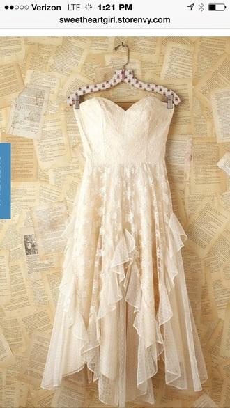 dress ivory boho style