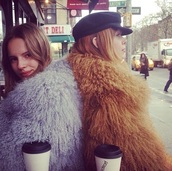 coat,violet,fur,faux fur,fluffy,indie,grunge,alternative,cool,model,hot,model off-duty,tilda lindstam