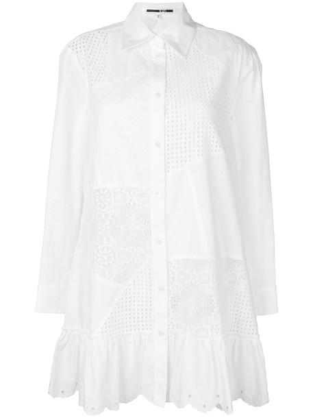 McQ Alexander McQueen dress shirt dress women white cotton