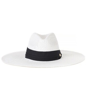hat straw hat white