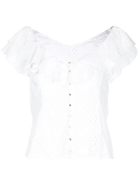 blouse women white cotton top