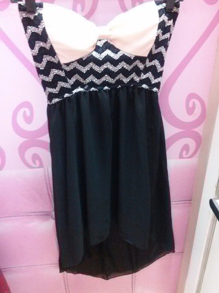 bow dress cute dress cute dresses zig zag dress