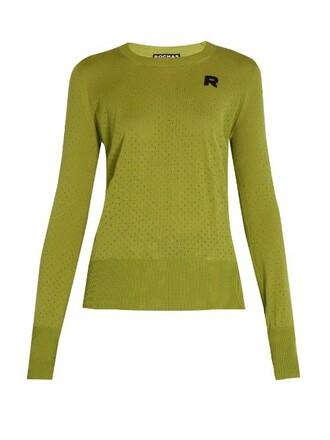 sweater wool sweater knit wool light green