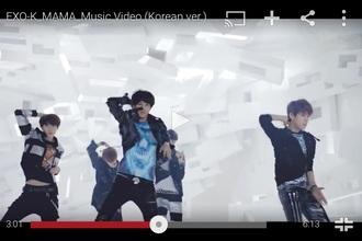 shirt tie dye shirt exo k kpop tshirt korean fashion skull t-shirt blue shirt kpop