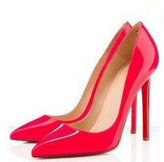 6 colors big size women pumps sexy red bottom pointed toe high heels shoes woman 2014 brand new design wedding party shoes jam7