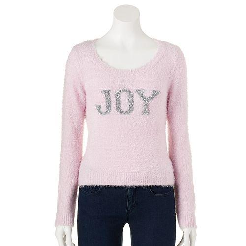 Lc lauren conrad graphic lurex sweater