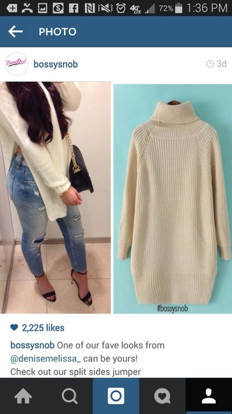 sweater knitwear knitted sweater white white sweater oversized sweater oversized turtleneck sweater off-white sweater knit sweaters