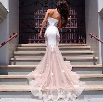 dress wedding dress bridal gown mermaid wedding dress