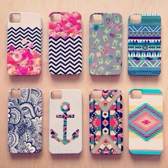 anchor pattern phone case iphone case iphone 5s iphone 5 case aztec colorful vintage iphone 5 case chevron