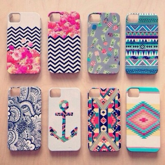 anchor pattern phone case iphone iphone 5s iphone 5 aztec colourful vintage iphone 5s case chevron