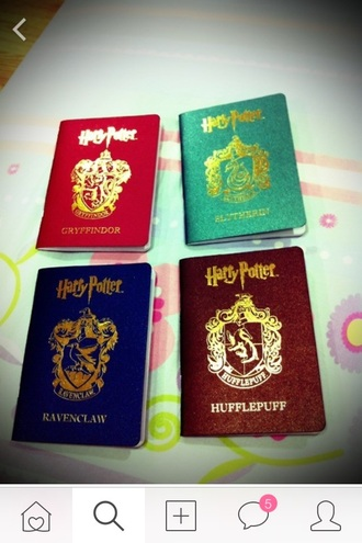 home accessory harry potter fan pass passports hufflepuff hogwarts slytherin gryffindor ravenclaw