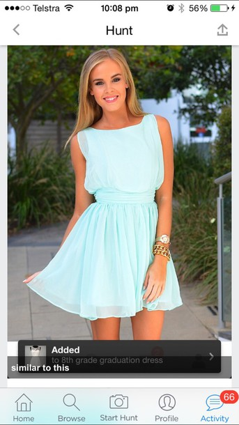 dress bright sky blue dress