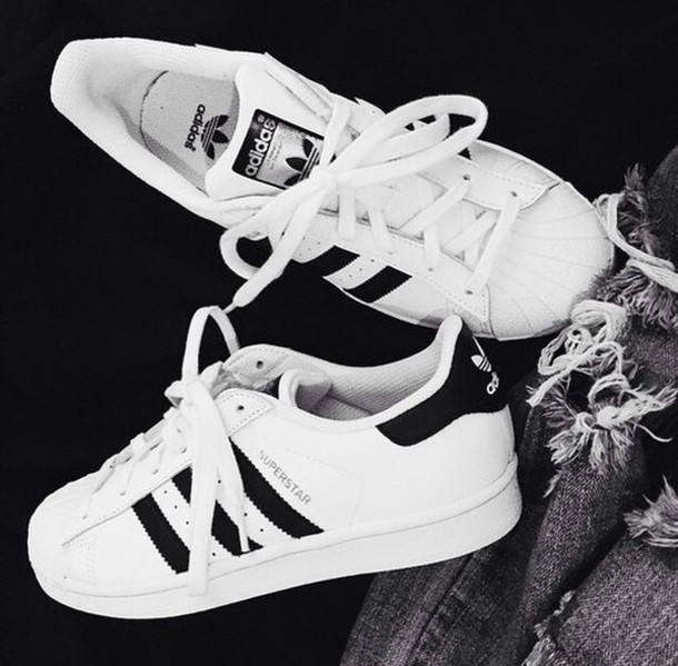 shoes adidas sneakers black and white gold bag adidas superstars
