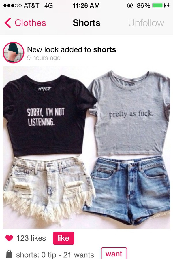 shirt crop tops quote on it cute hipster graphic crop tops shorts