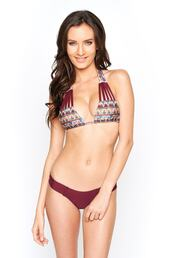 top,burgundy,bikini delivery,bikini top,cut-out,gold,halter top,montce swim,print,purple,tan,triangle,bikiniluxe