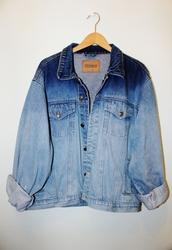 jacket,denim jacket,blue,tie dye,ombre