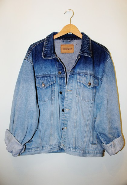 jacket denim jacket blue tie dye ombre