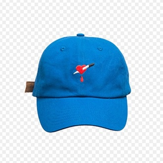 hat blue cap
